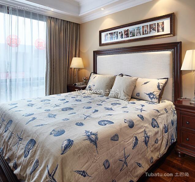 美式风格卧室房间设计装饰图片