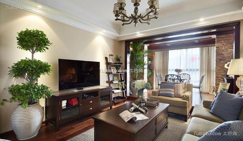 美式风格三室一厅装饰图片