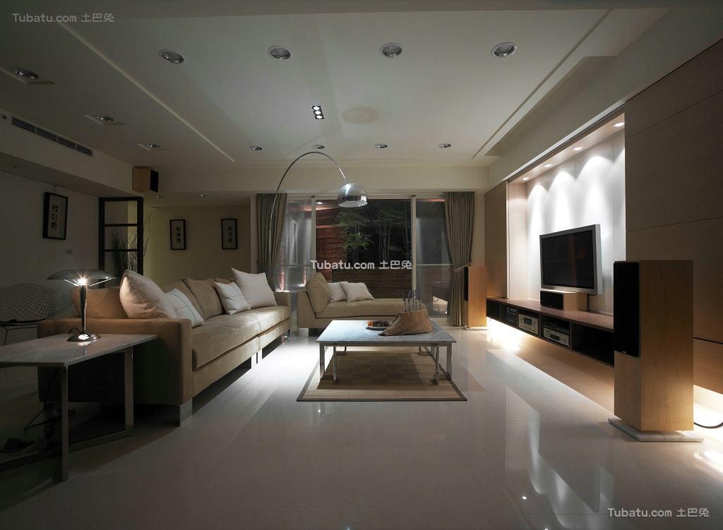 现代家装130平米四居室效果图大全