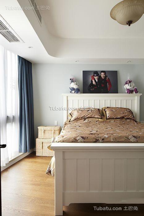家装美式田园卧室窗帘