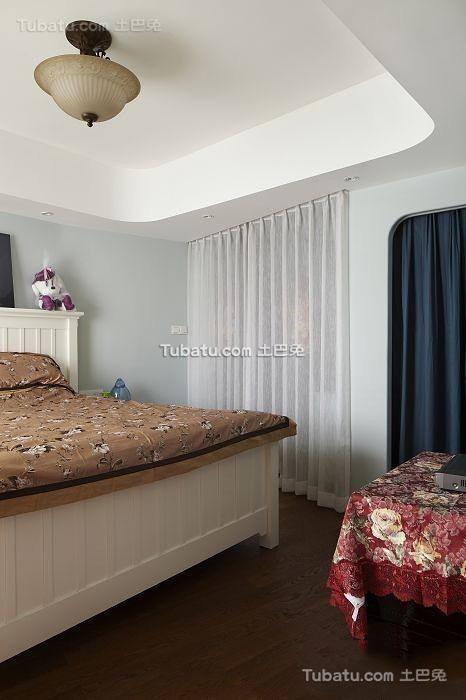 田园设计卧室吊顶图大全