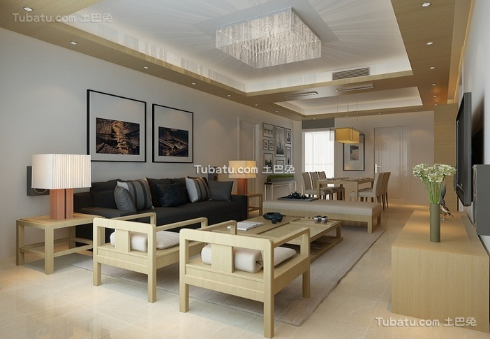 家装日式简约小户型室内设计图片