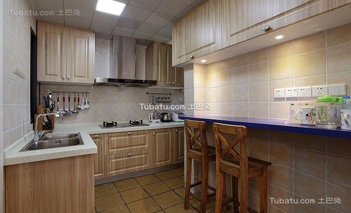 地中海风格厨房装修设计效果图