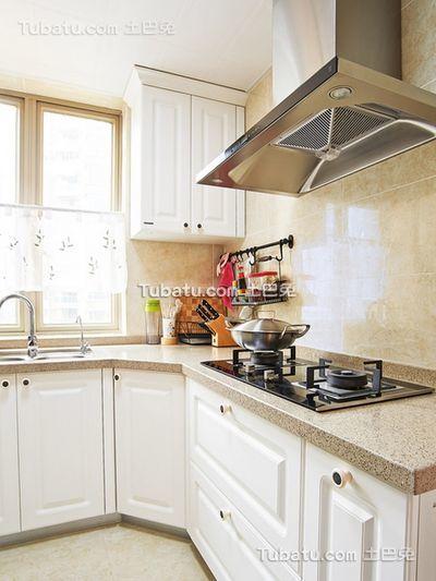 田园风格小户型厨房装修图片