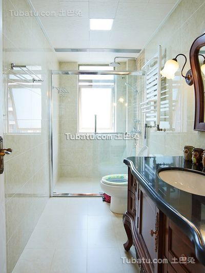 田园风格小户型室内卫生间图片