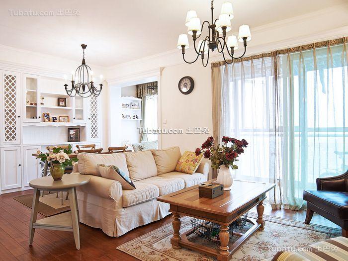 田园风格小户型室内装修图片