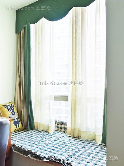 田园风格小户型室内飘窗装修图片