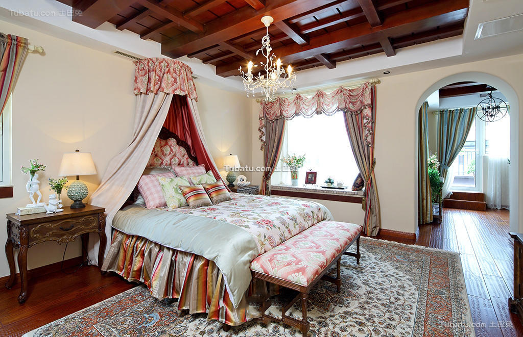 美式田园设计奢华卧室大全