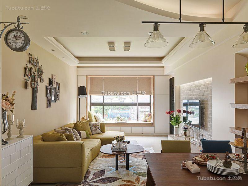 浪漫北欧风格小户型室内吊顶图片