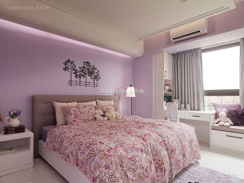 浪漫北欧风格卧室设计效果图