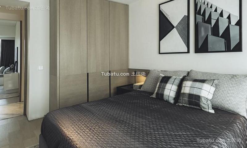 黑白极简风格卧室设计装饰效果图