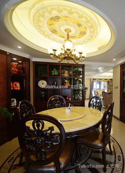 奢华欧式古典餐厅设计
