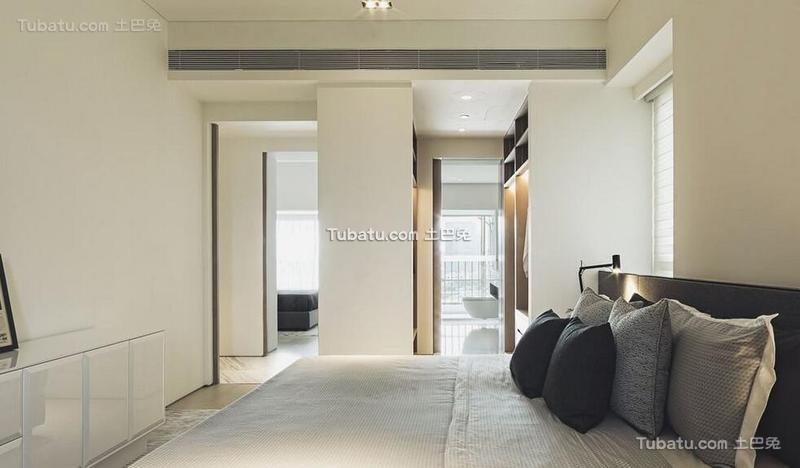 极简风格公寓卧室装饰效果图