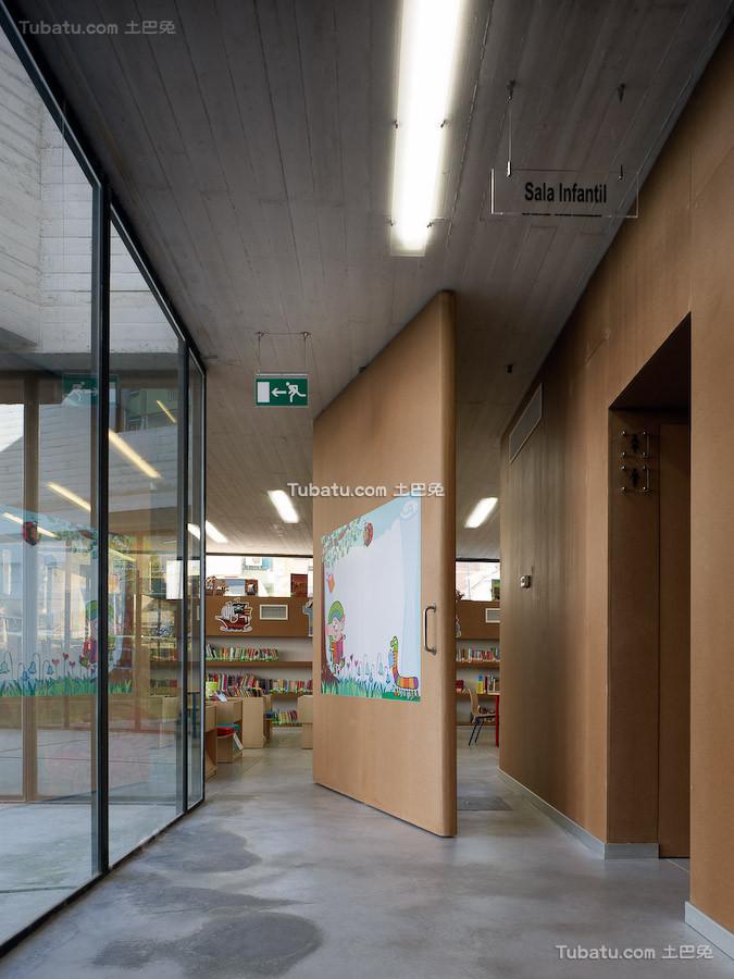 图书馆隔断设计装饰图片欣赏