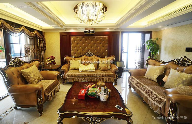 豪华欧式古典三居装潢大全