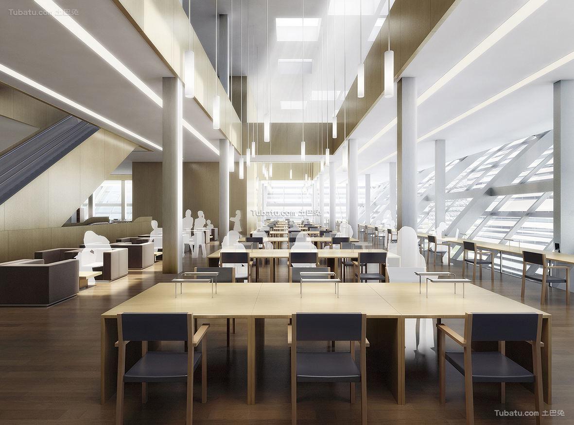 现代图书馆设计装饰图片欣赏