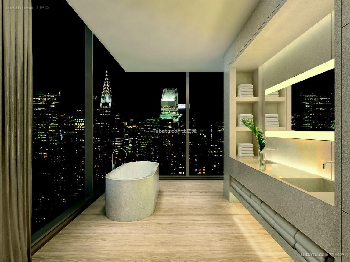 酒店浴室设计室内装修效果图
