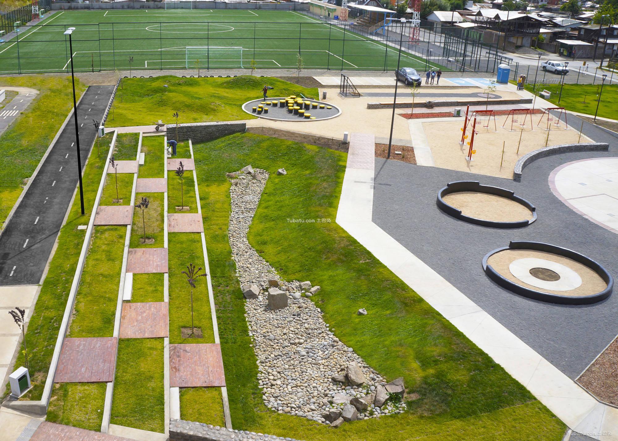 现代公园草坪设计图片