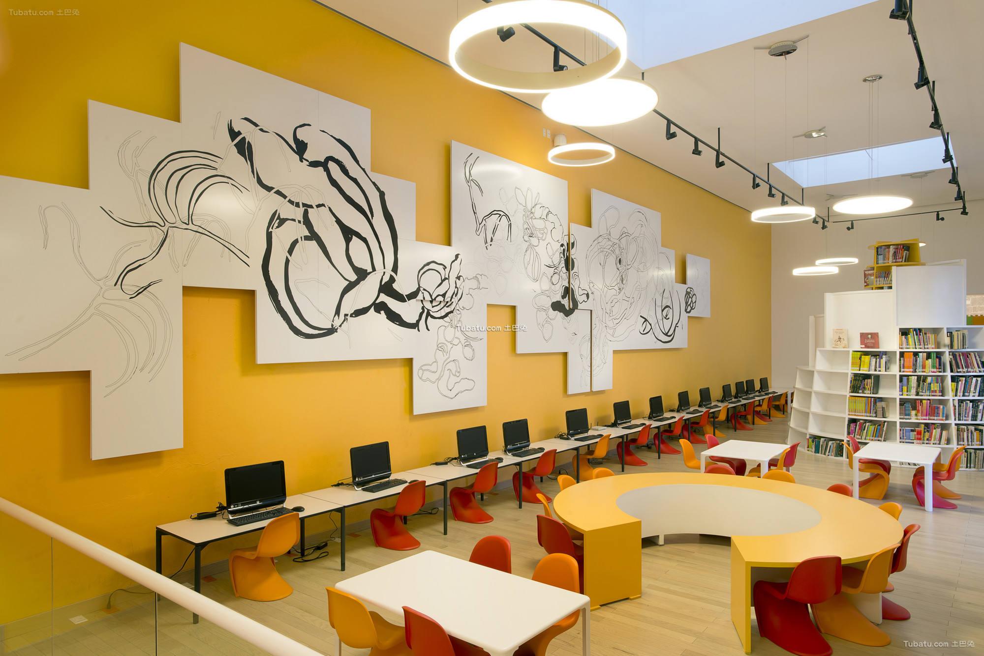 时尚图书馆室内设计装饰图片
