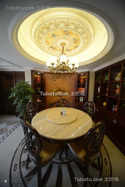 奢华欧式古典餐厅设计装潢