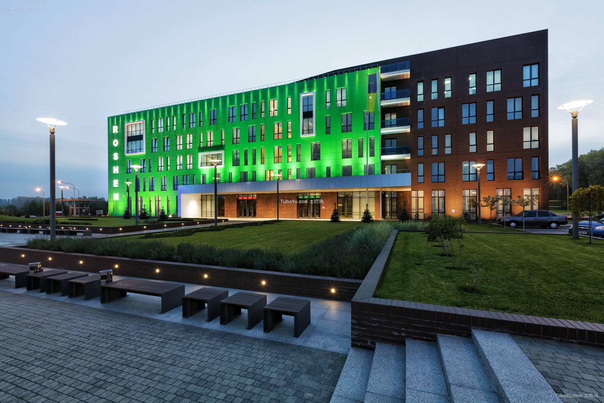 现代厂房建筑装饰效果图