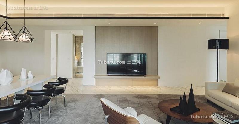 黑白极简风格公寓设计装饰效果图