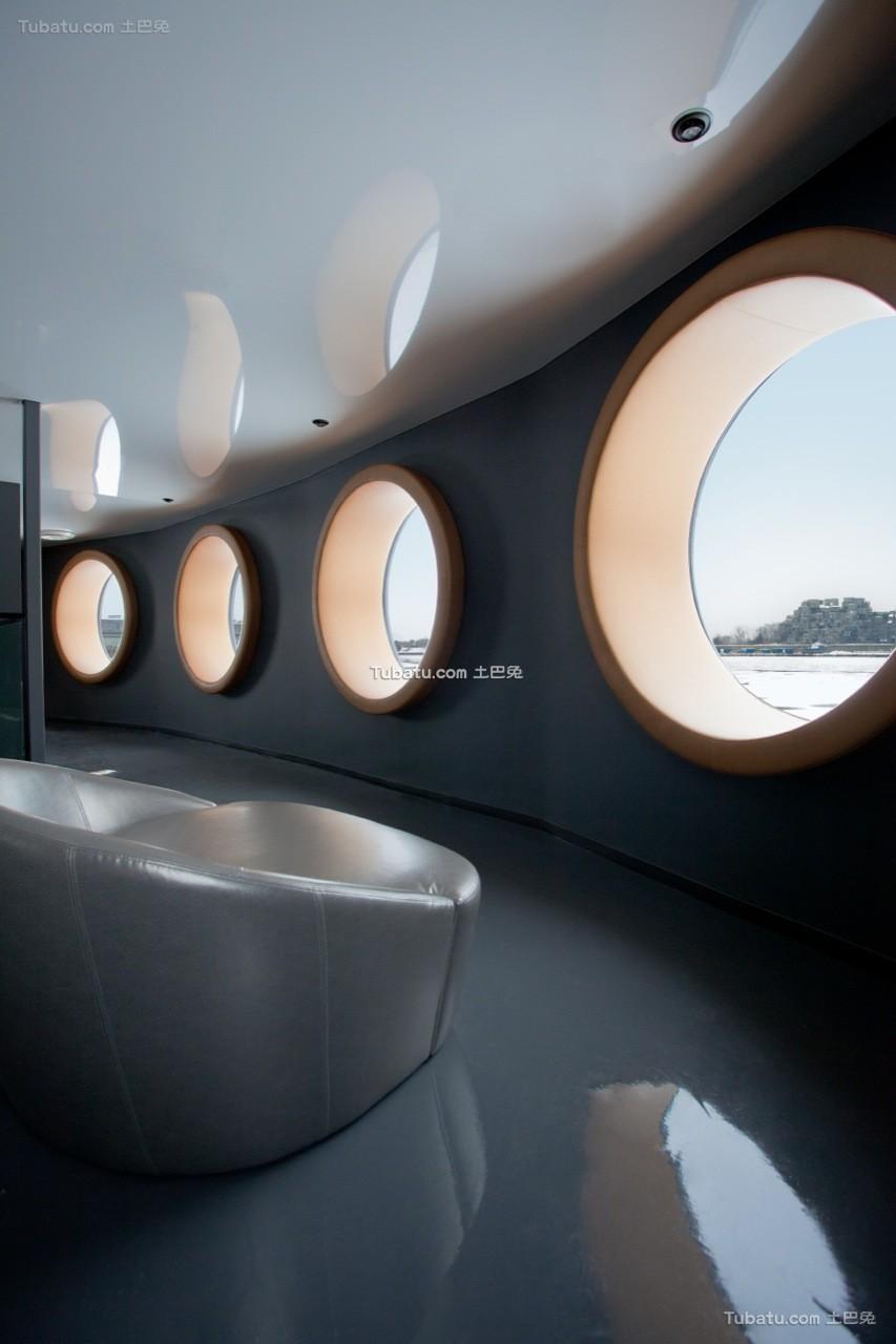 现代时尚美容院设计装修室内效果图片