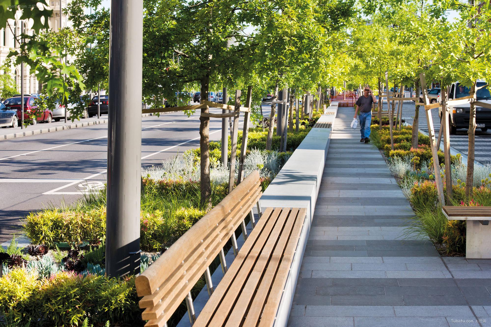 现代公园休闲躺椅设计图片欣赏