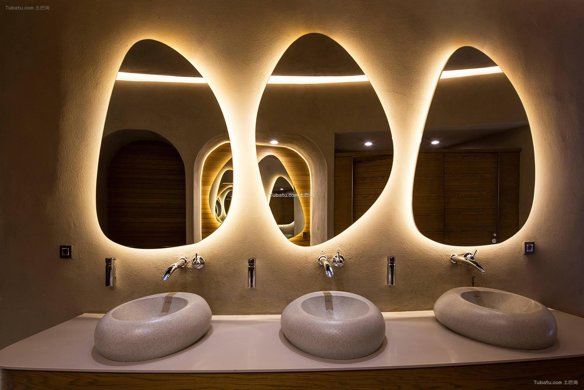 美容院洗手间装修室内效果图片