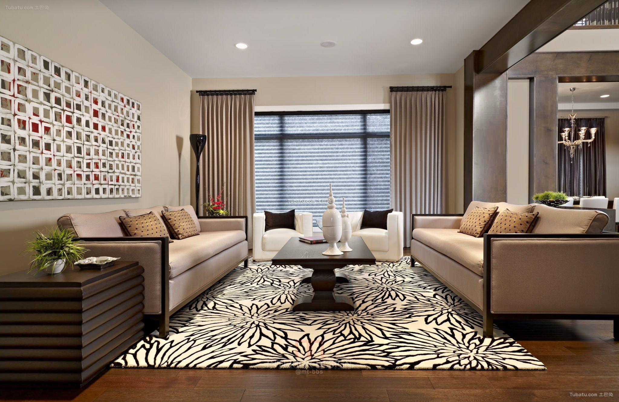 2015设计客厅窗帘效果图