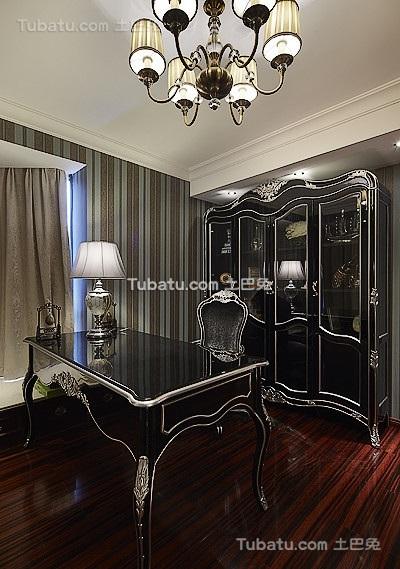 黑色新古典欧式书房装修