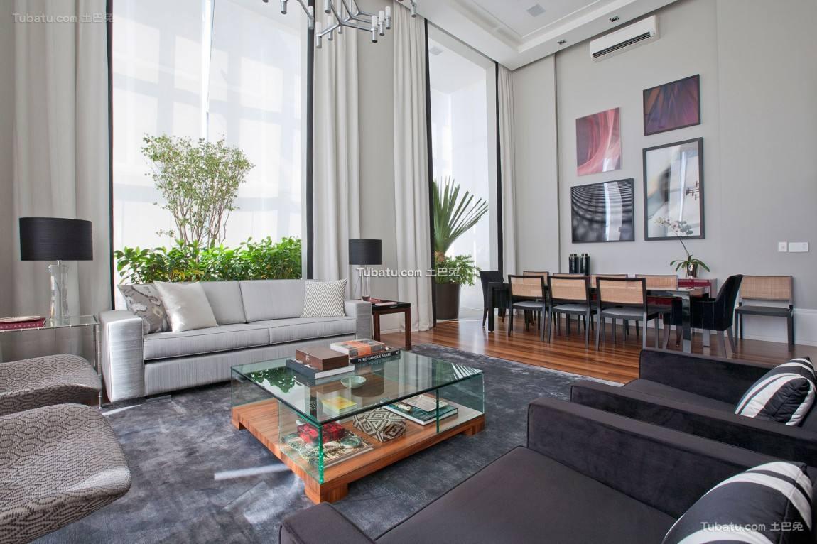 现代设计135平米四居室效果图大全