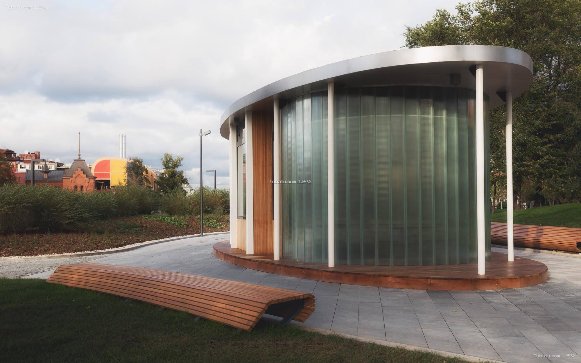 现代公园小屋设计图片欣赏