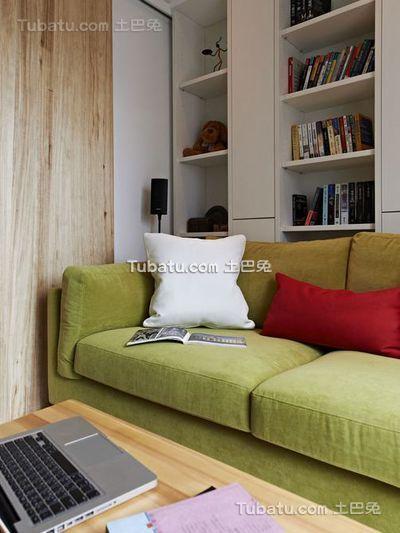 北欧自然风格小户型设计装修图片
