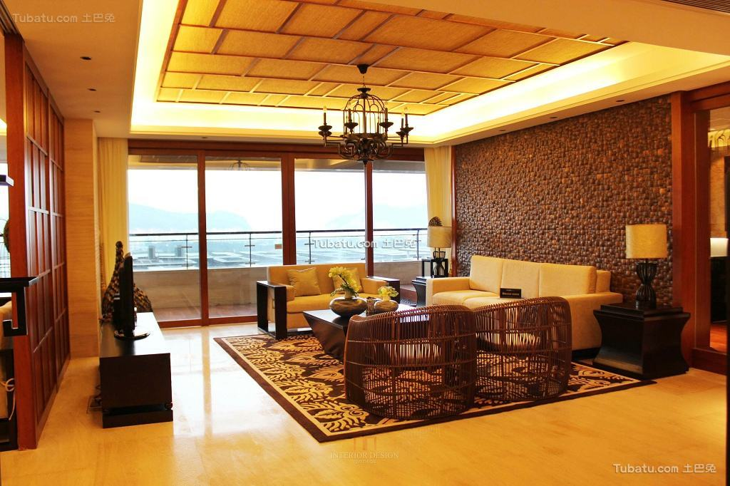 东南亚装修设计123平米四居室大全