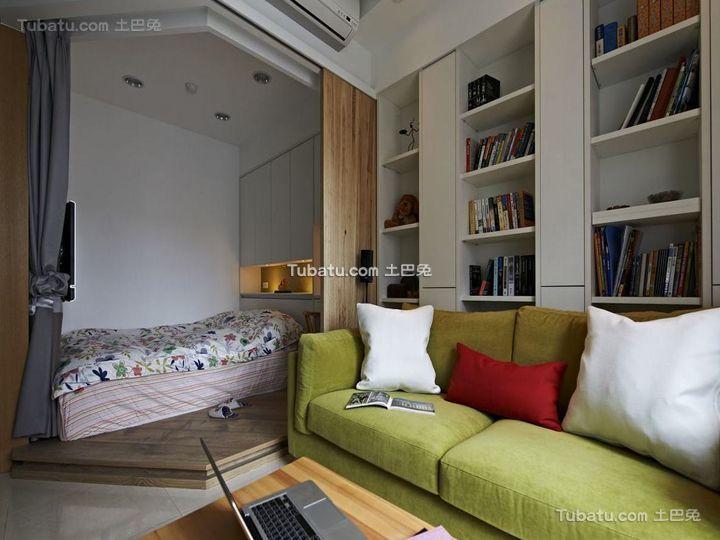 北欧自然风格卧室设计装修图片