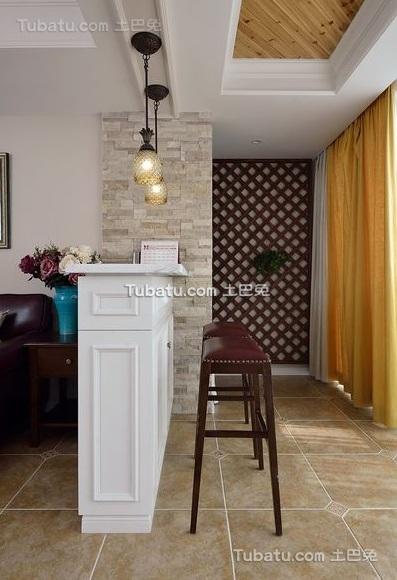 复古美式风格吧台室内装饰效果图