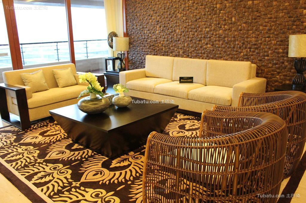 东南亚设计小客厅图片