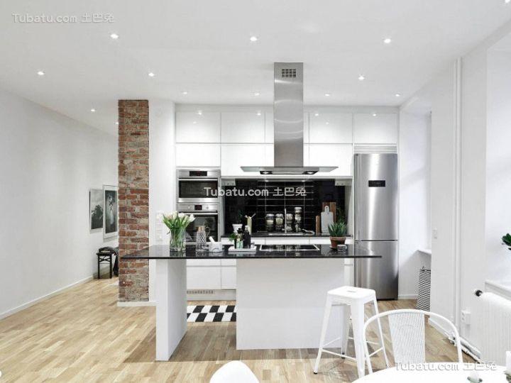 简约设计loft公寓厨房装修效果图