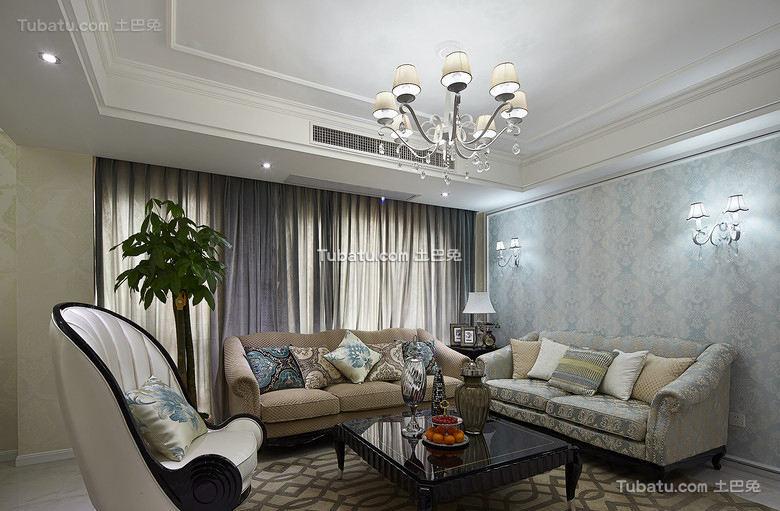 简欧风格两居室装饰设计效果图