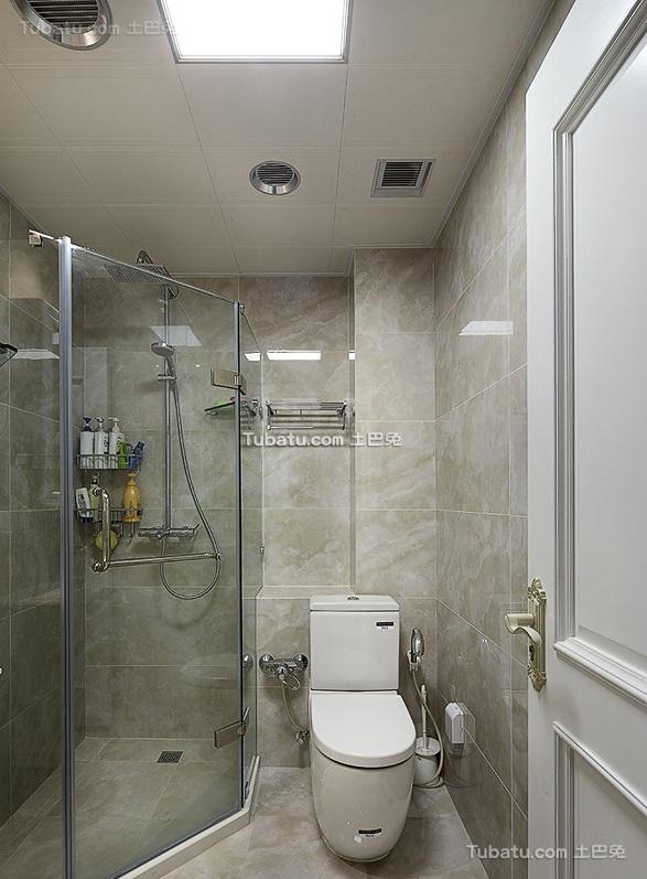 简欧现代卫生间装饰设计效果图
