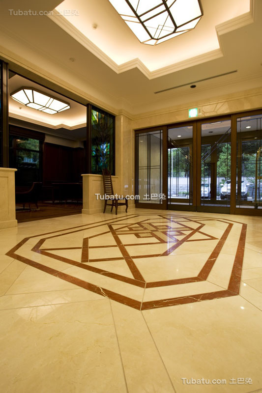 现代酒店门厅装饰室内效果图