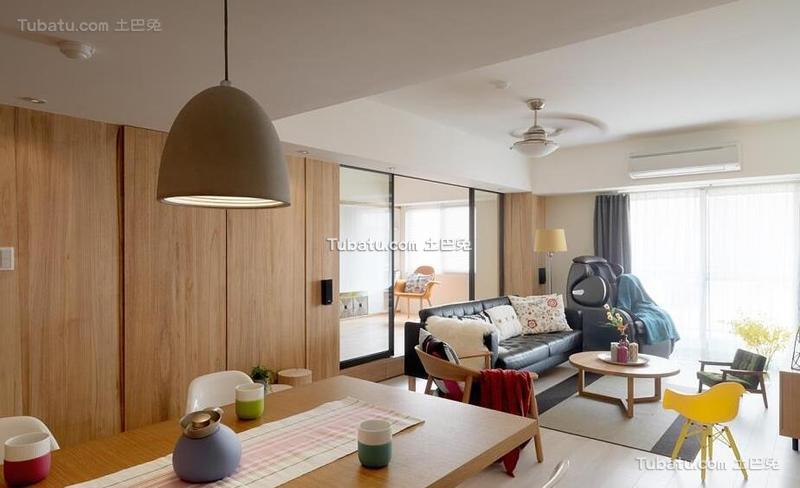 北欧风格公寓餐厅设计室内效果图