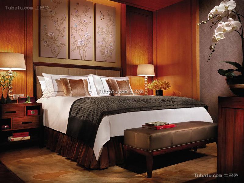 酒店卧室设计装饰室内效果图