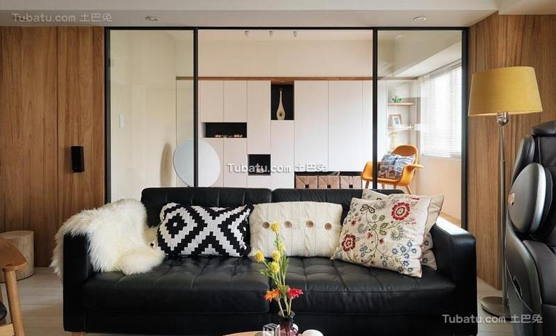 北欧风格公寓客厅设计室内效果图