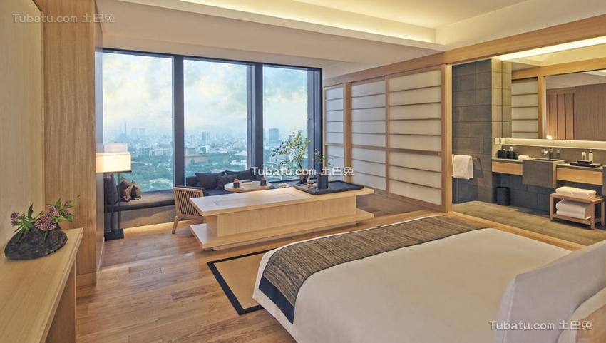 酒店设计卧室装饰室内效果图