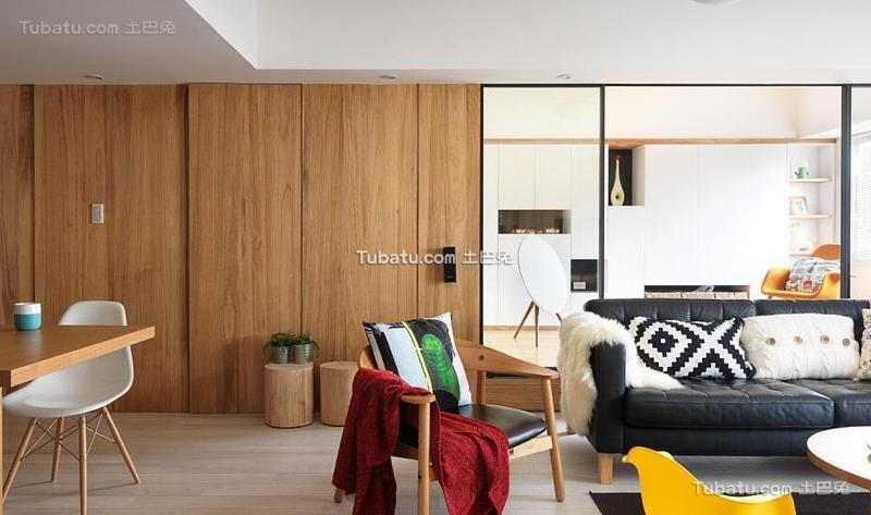 北欧风格公寓实木装饰效果图