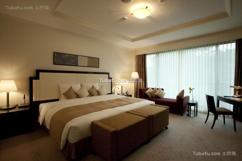 现代酒店设计卧室室内效果图