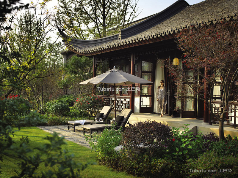 古典中式酒店别墅设计装饰图片
