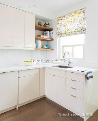 北欧简约风格公寓厨房设计效果图
